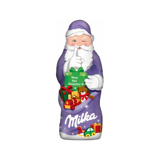Milka Milk Chocolate Santa Claus With Hazelnuts, 3.5 oz (100 g)