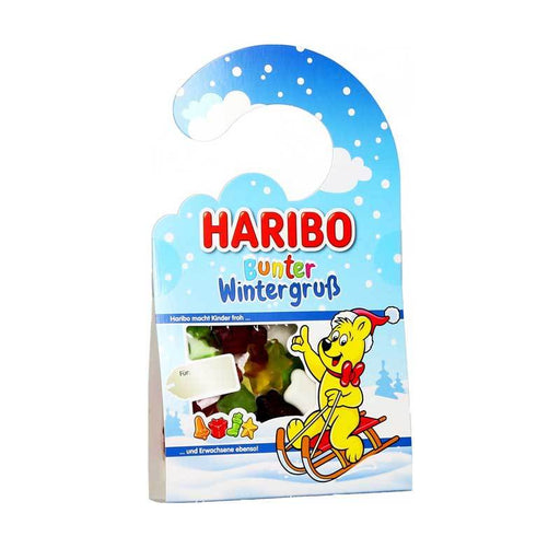 Haribo Winter Greetings Gummies Door Hanger, 3.5 oz (100 g)