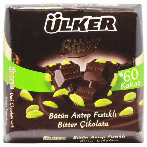 Ulker Dark Chocolate with Pistachio, 2.8 oz