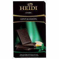 Heidi Grand'Or Dark Chocolate with Mint and Lemon 2.8 oz. (80g)
