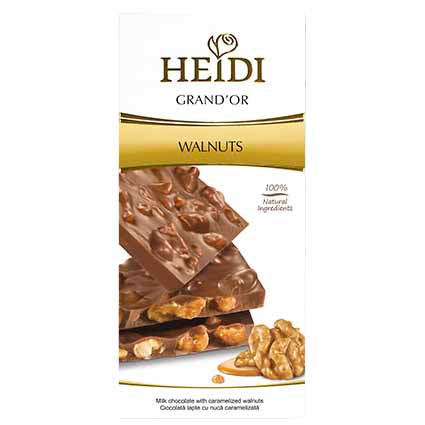Heidi Grand'Or Milk Chocolate Caramelized Walnuts 3.5 oz. (100g)
