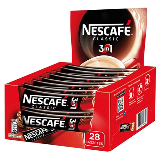 Nescafe Individual 3 in 1 Classic Instant Coffee 28 Packets
