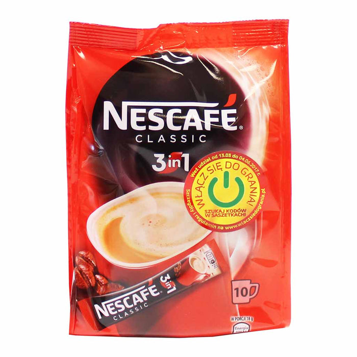Nescafe 3 in 1 Classic Instant Coffee 10 Packets