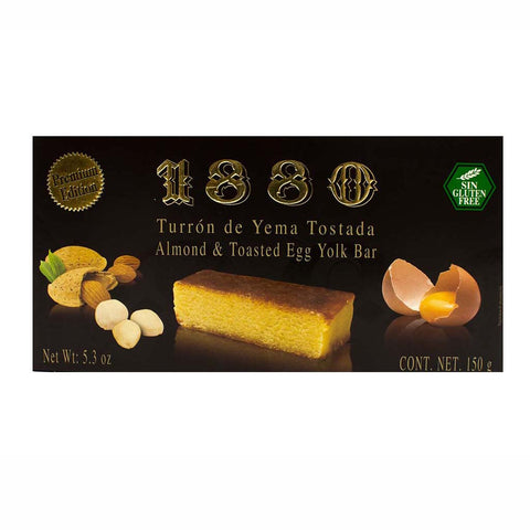 Premium Almond and Toasted Egg Yolk Turron de Yema Tostada by 1880 5.3 oz