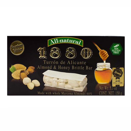 Premium Almond and Honey Brittle Turron de Alicante by 1880 5.3 oz