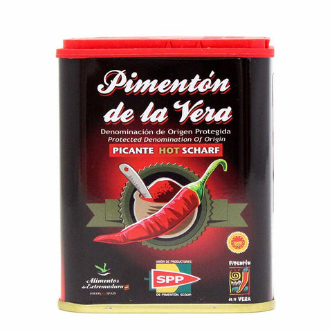 Smoked Spanish Hot Paprika D.O.P. by Pimenton de la Vera 2.65 oz