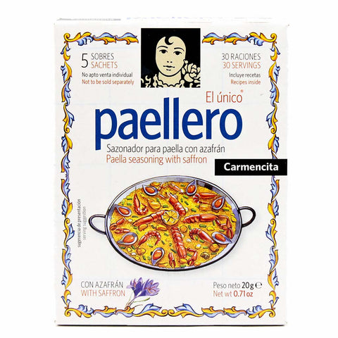 Paellero Paella Seasoning With Real Saffron By Carmencita 5 Packs