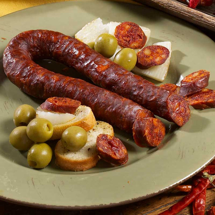 Hot Palacios Chorizo, Picante and Ready-to-eat, 7.9 oz.