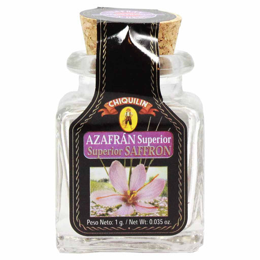 Azafran Saffron Threads, Glass Jar, Product of Spain, Chiquilin 0.035 oz