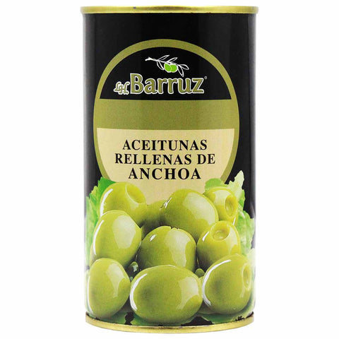Stuffed Green Olives with Anchovy by Barruz 12.3 oz