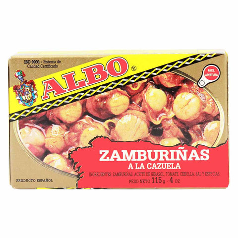 Spanish Queen Scallops in Sauce by Albo 4 oz