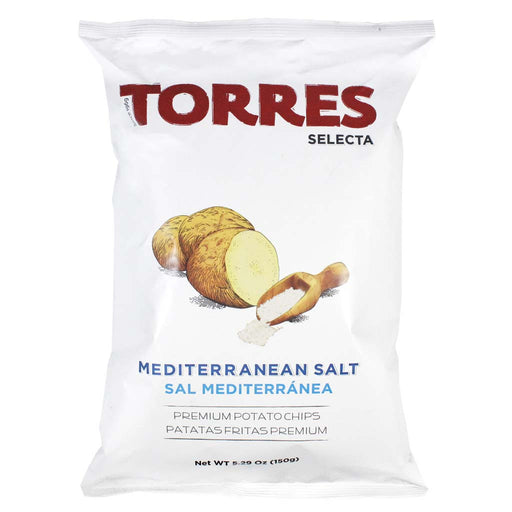 Torres Mediterranean Salt Potato Chips, 5.29 oz