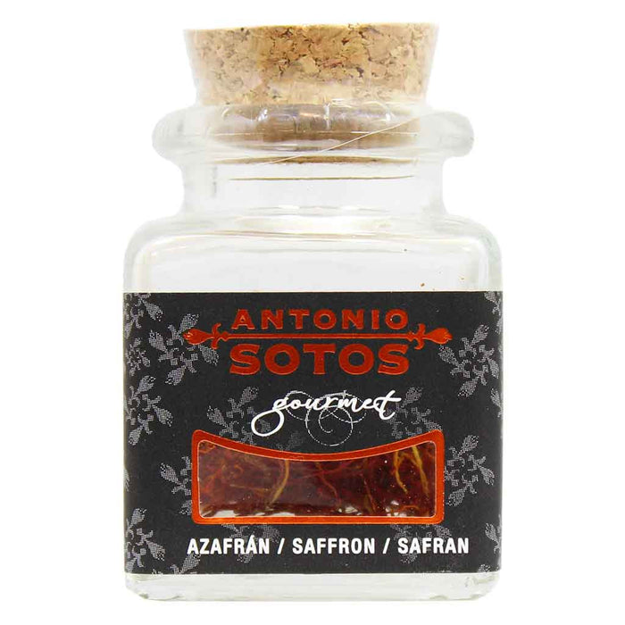 Superior Grade Saffron Threads in Glass Jar by Antonio Sotos 1 g