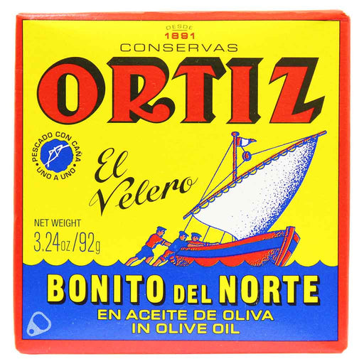 Ortiz Bonito del Norte White Tuna in Olive Oil, 3.24 oz. (92g)