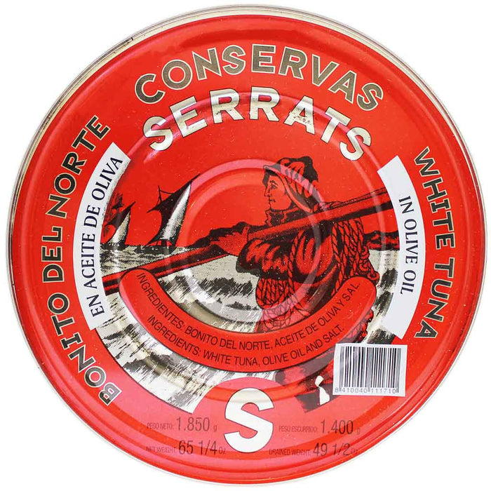 Serrats White Tuna in Olive Oil Tin 49.5 oz. (1.4 kg)