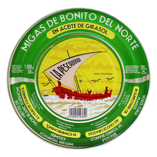 Large La Pescadora White Tuna in Sunflower Oil Tin 25 oz. (700 g)
