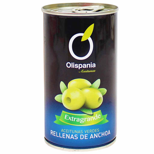 Olispania Stuffed Green Olives with Anchovy Paste 12.3 oz. (350g)