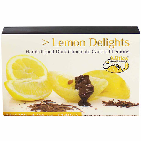Mitica Hand-Dipped Dark Chocolate Lemon Delights 4.9 oz. (140g)