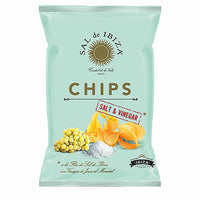 Ibiza Salt & Vinegar Potato Chips by Sal de Ibiza, 4.4 oz. (125g)
