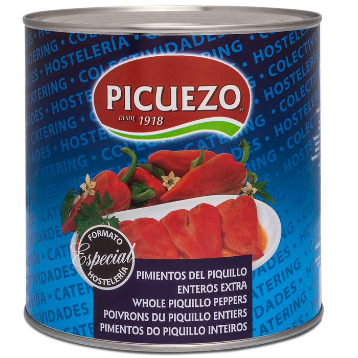 Picuezo XXL Whole Piquillo Peppers 5.5 lbs. (2.5kg)