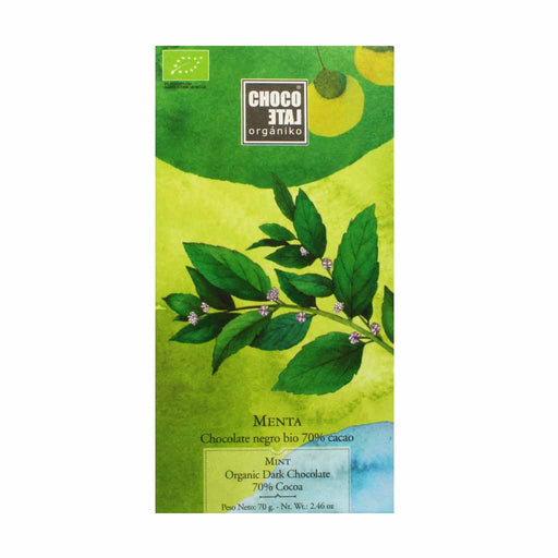 Organic 70% Cacao Mint Dark Chocolate 2.4 oz.