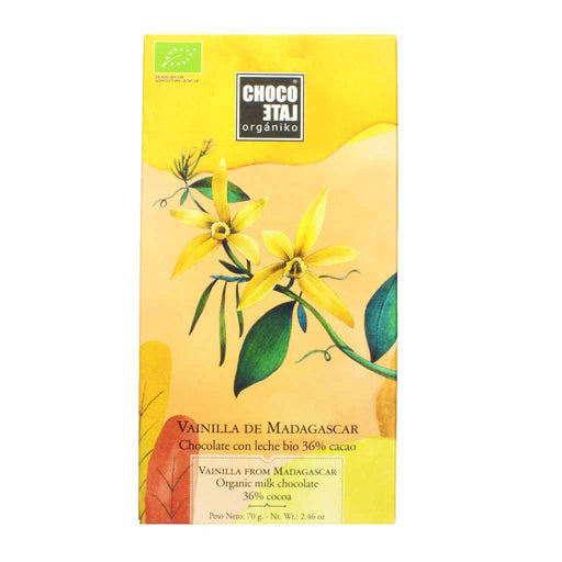 Spanish Organic Milk Chocolate with Madagascar Vanilla 2.4 oz.