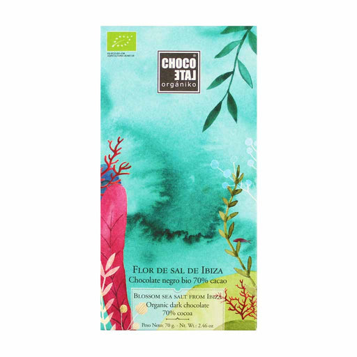 Spanish Organic 70% Dark Chocolate with Ibizan Sea Salt 2.4 oz.