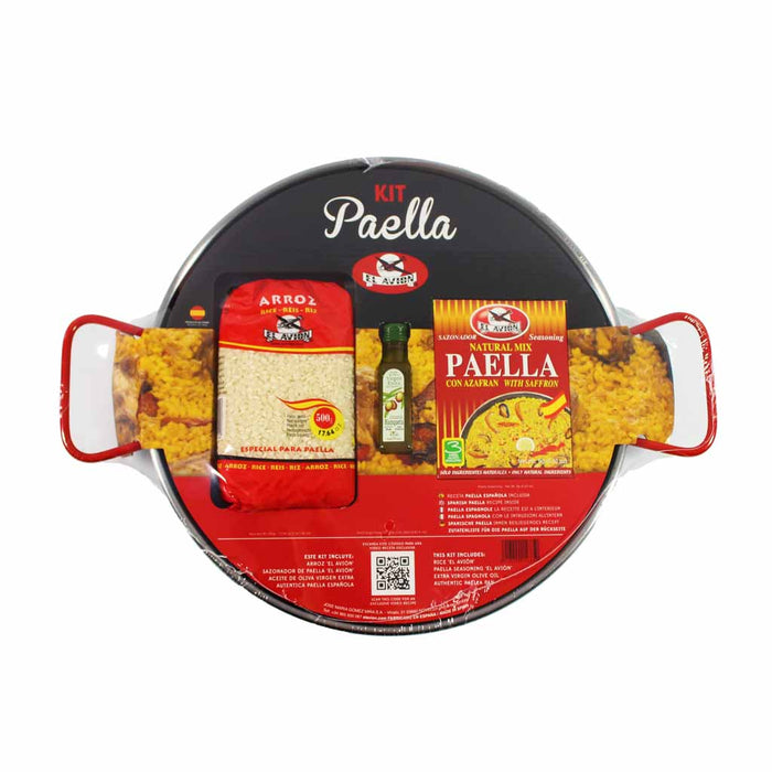 Authentic Spanish Paella Kit with Paella Pan