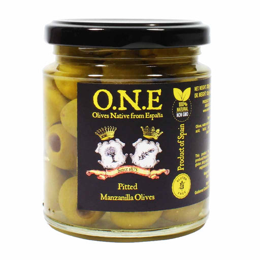 Spanish Pitted Manzanilla Olives 7.7 oz.