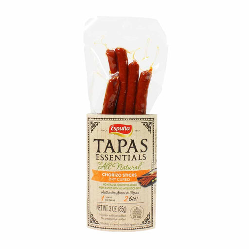 Espuna Tapas Essentials - Mild Chorizo Sticks, Dry Cured, 3 oz