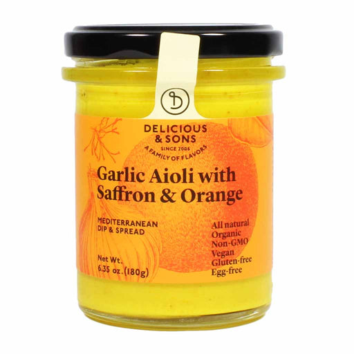 Spanish Organic Garlic Aioli with Saffron and Orange 6.3 oz.