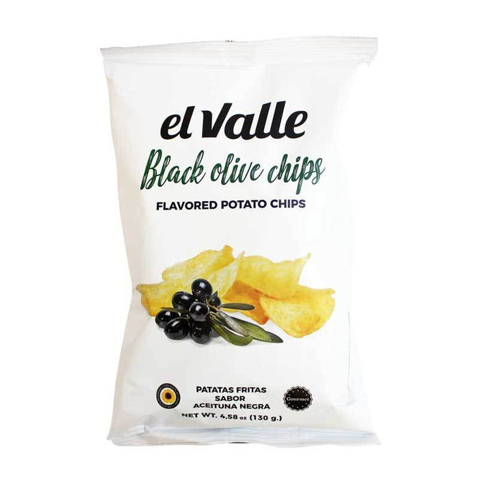 El Valle Black Olive Potato Chips, 4.58 oz (130 g)