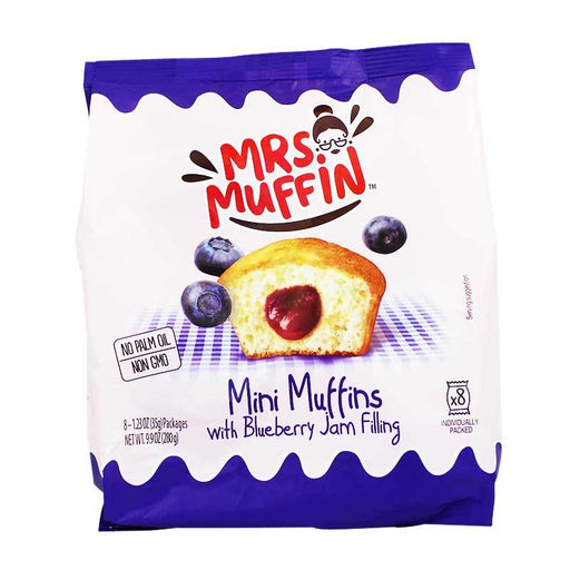 Mrs. Muffin Mini Muffins with Blueberry Jam Filling, 9.9 oz (280 g)