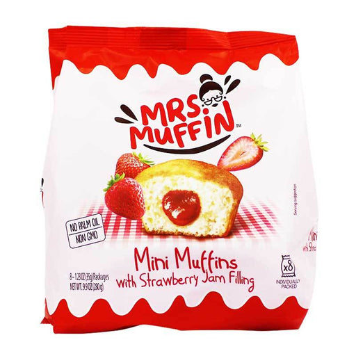 Mrs. Muffin Mini Muffins with Strawberry Jam Filling, 9.9 oz (280 g)