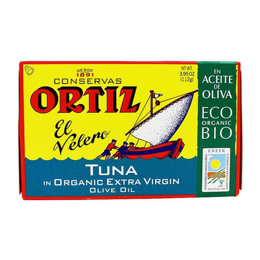 Ortiz White Tuna in Organic Extra Virgin Olive Oil, 4 oz (112g)