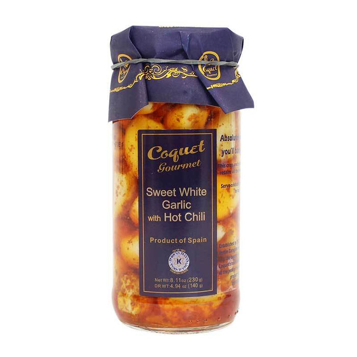 Coquet Sweet White Garlic with Hot Chili, 8.11 oz (230g)