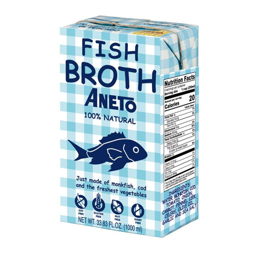 Aneto Fish Broth, 33.8 fl oz (1L)