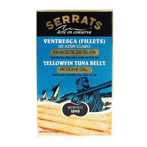 Serrats Ventresca Yellowfin Tuna Belly Fillets in Olive Oil