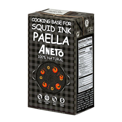 Aneto Squid Ink Paella Cooking Base, 33.8 fl oz (1L)