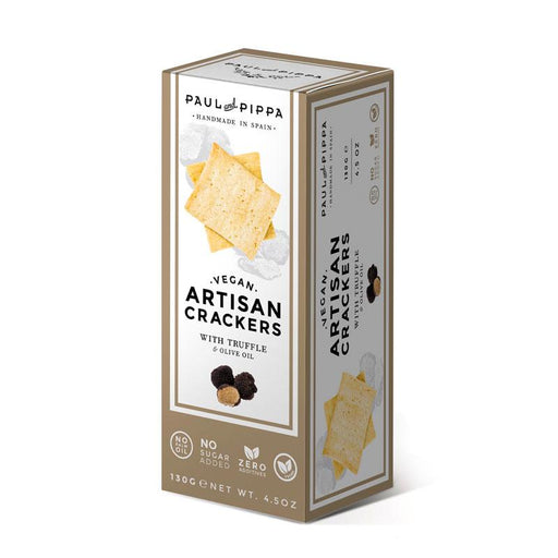 Vegan Olive Oil Crackers with Truffle by Paul and Pippa, 4.5 oz (150 g)