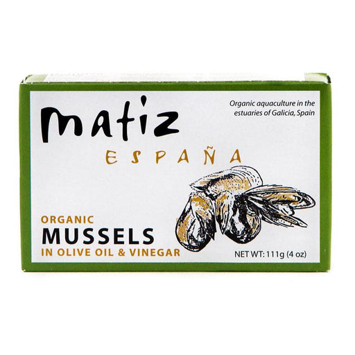 Matiz Organic Mussels in Olive oil and Vinegar, 4 oz (111 g)