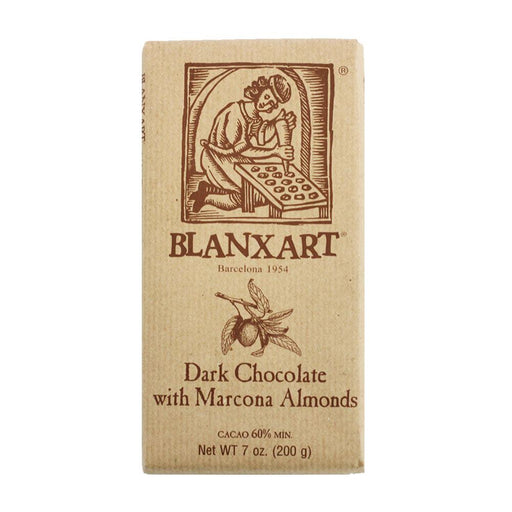 Blanxart Dark Chocolate with Almonds, 7 oz (200 g)