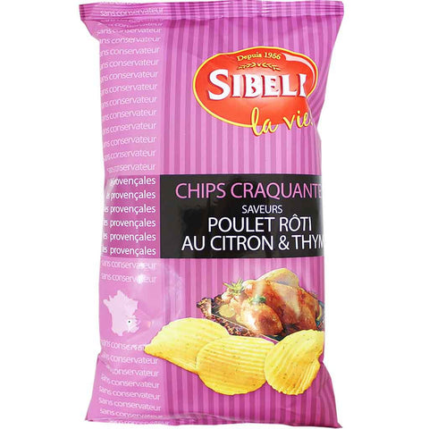 Sibell Rippled Roast Chicken, Lemon and Thyme Potato Chips 4.2 oz. (120 g)