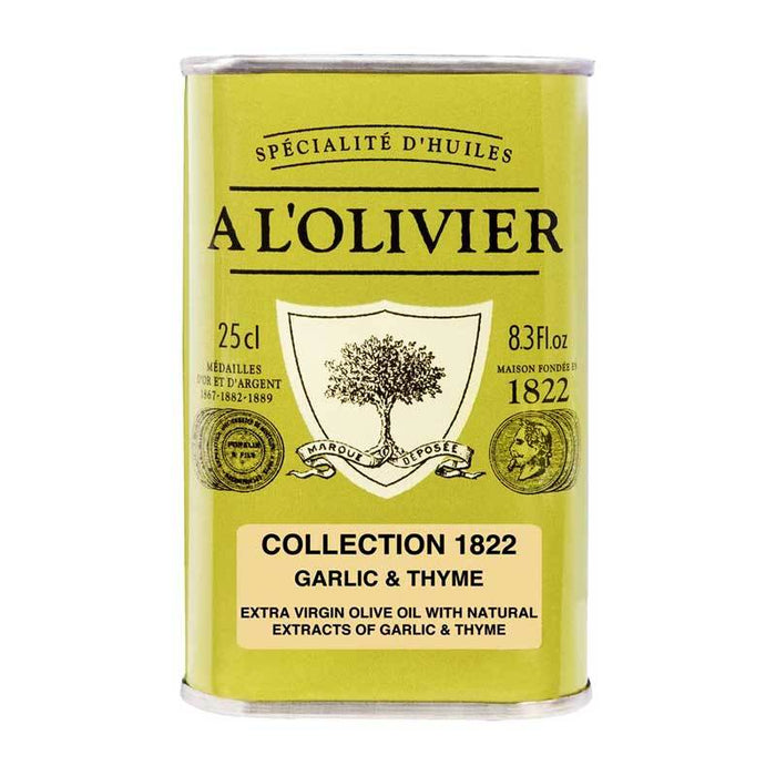 A LÕOlivier Garlic and Thyme Infused Extra Virgin Olive Oil, 8.3 fl oz (250 ml)