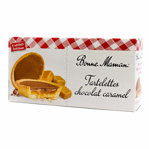 Chocolate Caramel Tarts Tartelettes by Bonne Maman 9 Pcs