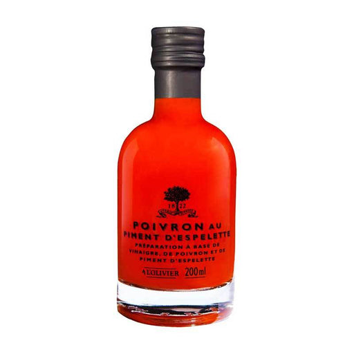 A LÕOlivier Red Pepper Pulp Vinegar with Espelette Pepper, 6.7 fl oz (200 ml)