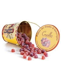 Assorted Fruit Jellies in Metal Pail by Cruzilles from France, 8 oz (250 g)