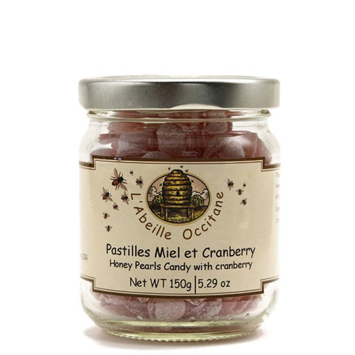 French Honey Candies, Cranberry, L'Abeille Occitane, 5.3 oz (150 g)