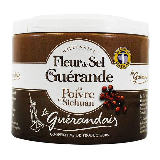 Fleur de Sel with Sichuan Peppercorn by Guerandais, 4.4 oz (125 g)