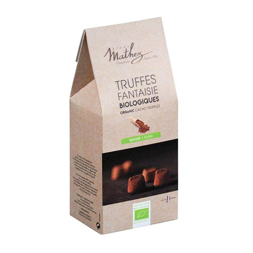 Mathez Organic Dark Chocolate Truffles, Kraft, 7.1 oz (201 g)